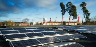 Solceller på OKQ8 Globens tak