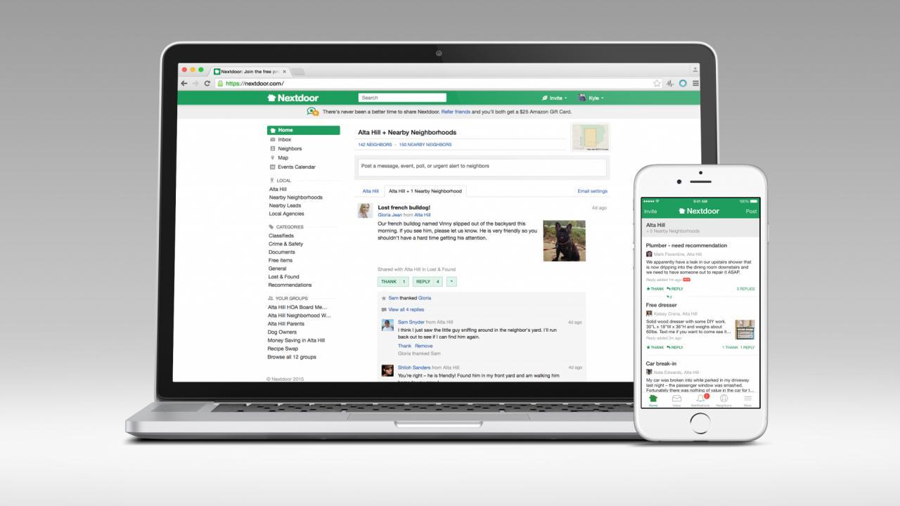 Alle bewoners in Hendrik-ido-Ambacht kunnen zich vanaf heden aanmelden bij de nieuwe App Nextdoor