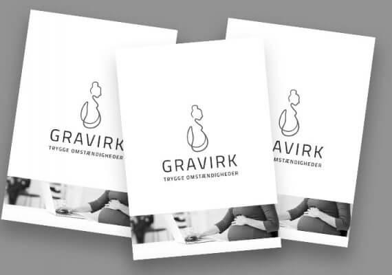 Et lækkert og kreativt layout | Gravirk brochure
