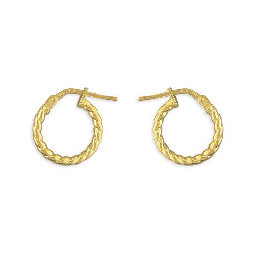 smykker, øreringe, forgyldt sølv, byFalck