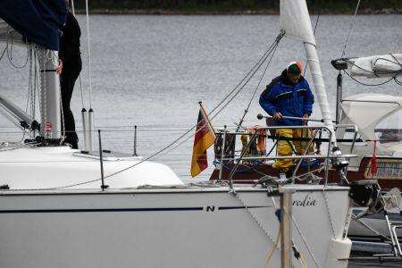 Tysk segelbåt i hamnen