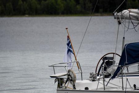 Finsk seglare i hamnen