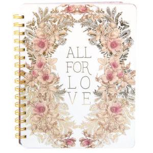 Spirituel notesbog ALL FOR LOVE