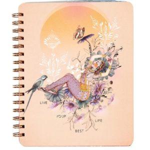 Spirituel notesbog BEST LIFE fra Papaya Art