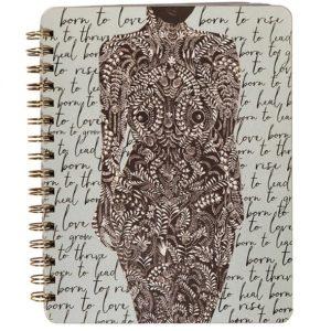 Spirituel notesbog LIVING WOMAN fra Papaya Art