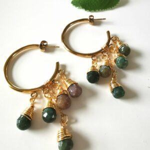 Krystal øreringe fra byTrampenau