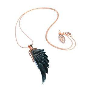 Angelica halskæde med englevinge vedhæng