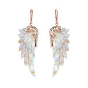 Perlemors øreringe Angel Wings fra Lalimalu hos byTrampenau