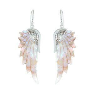 Opal Wonder Angel Wings - perlemor englevinger øreringe