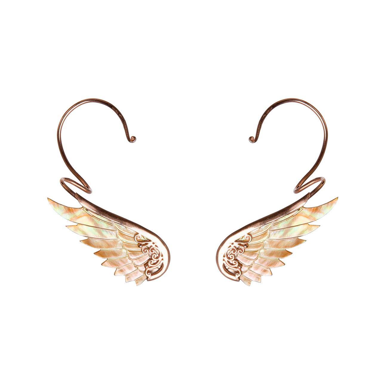 Rainbow Rose Earwings earcuffs