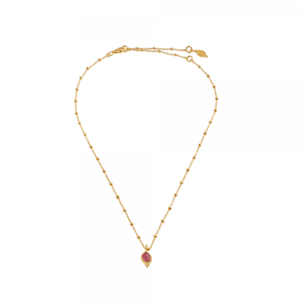 Gentle Heart med pink Turmalin - smykker med mening