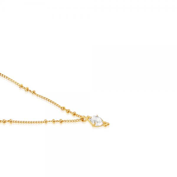 Krystal kæde med Herkimer diamant - bæredygtige luksus materialer