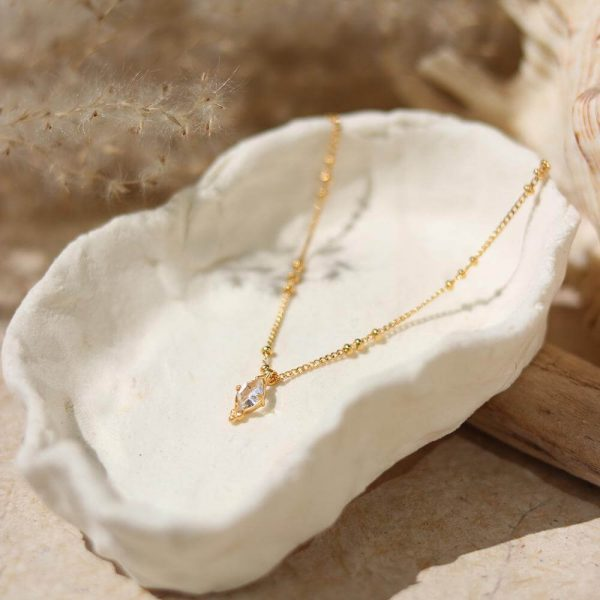 Daydreamer halskæde med Herkimer diamant