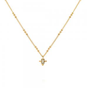 Labradorit krystal halskæde med 22 karat guldbelægning fra Ananda Soul hos byTrampenau