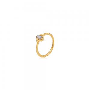 Krystal ring med Labradorit