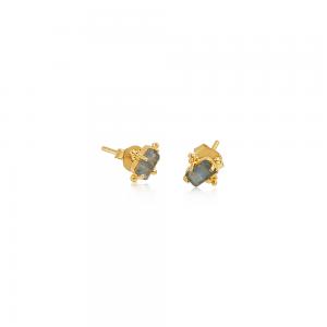 Krystal øreringe med Labradorit