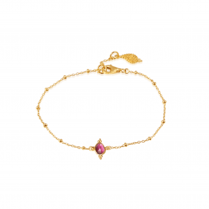 Gentle Heart krystalarmbånd med pink turmalin