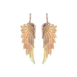 Englevinge øreringe - Rainbow Rose fra Lalimalu hos byTrampenau