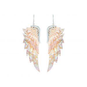 Englevinge øreringe - bæredygtige smykker fra Lalimalu