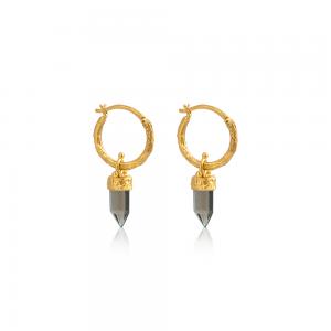 Røgkvarts guld øreringe fra Ananda Soul - smykker med mening