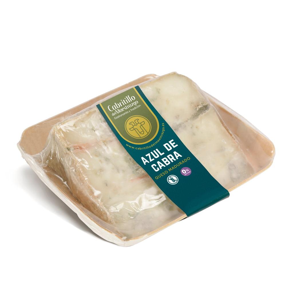 cuña de queso azul de cabra