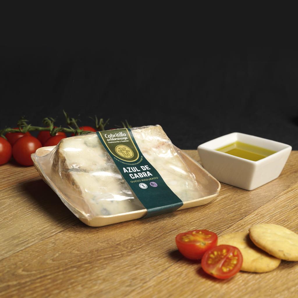 Cuña de queso azul de cabra sin lactosa