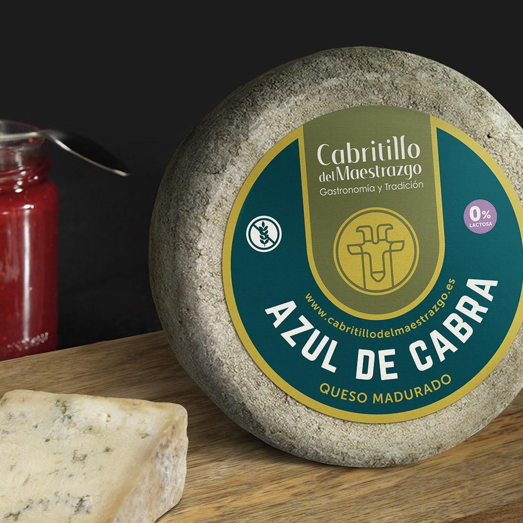 queso azul de cabra sin lactosa