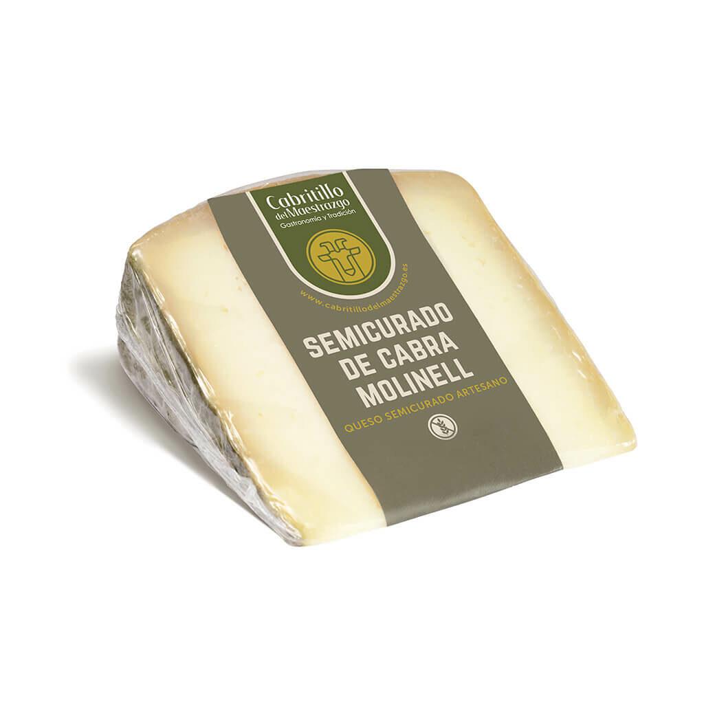 queso semicurado de cabra artesanal