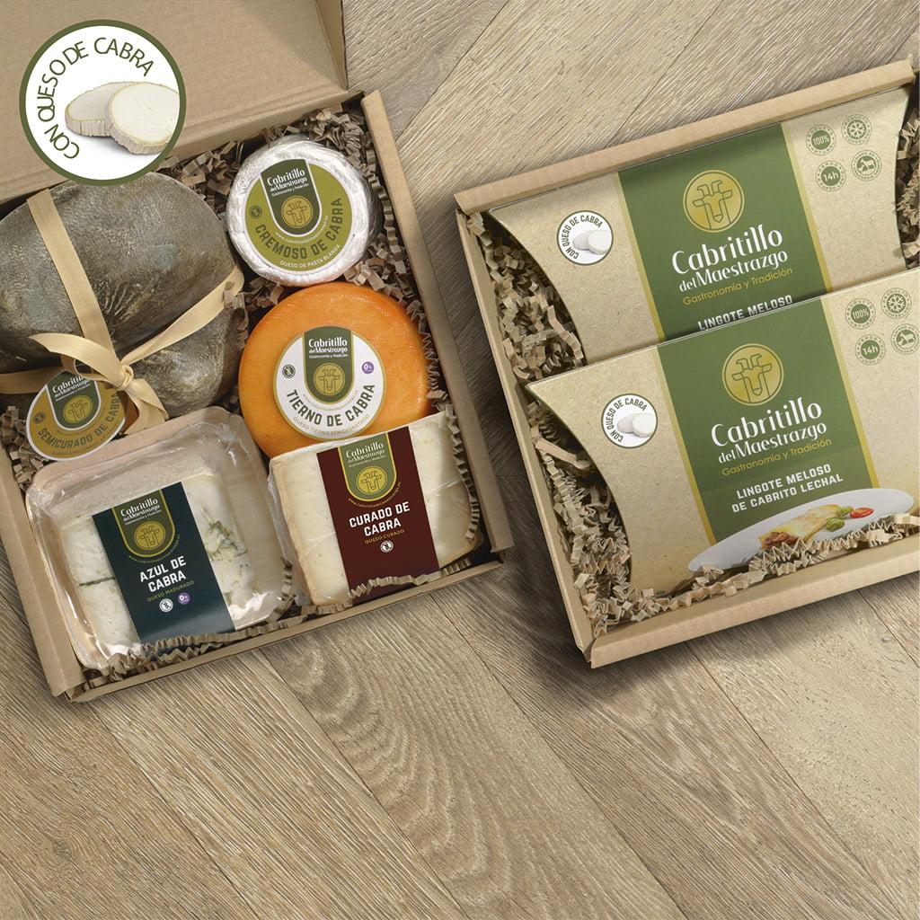 pack lingotes con queso de cabra y variedad de quesos artesanos