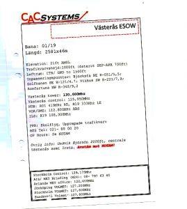 CAC inflygningskort