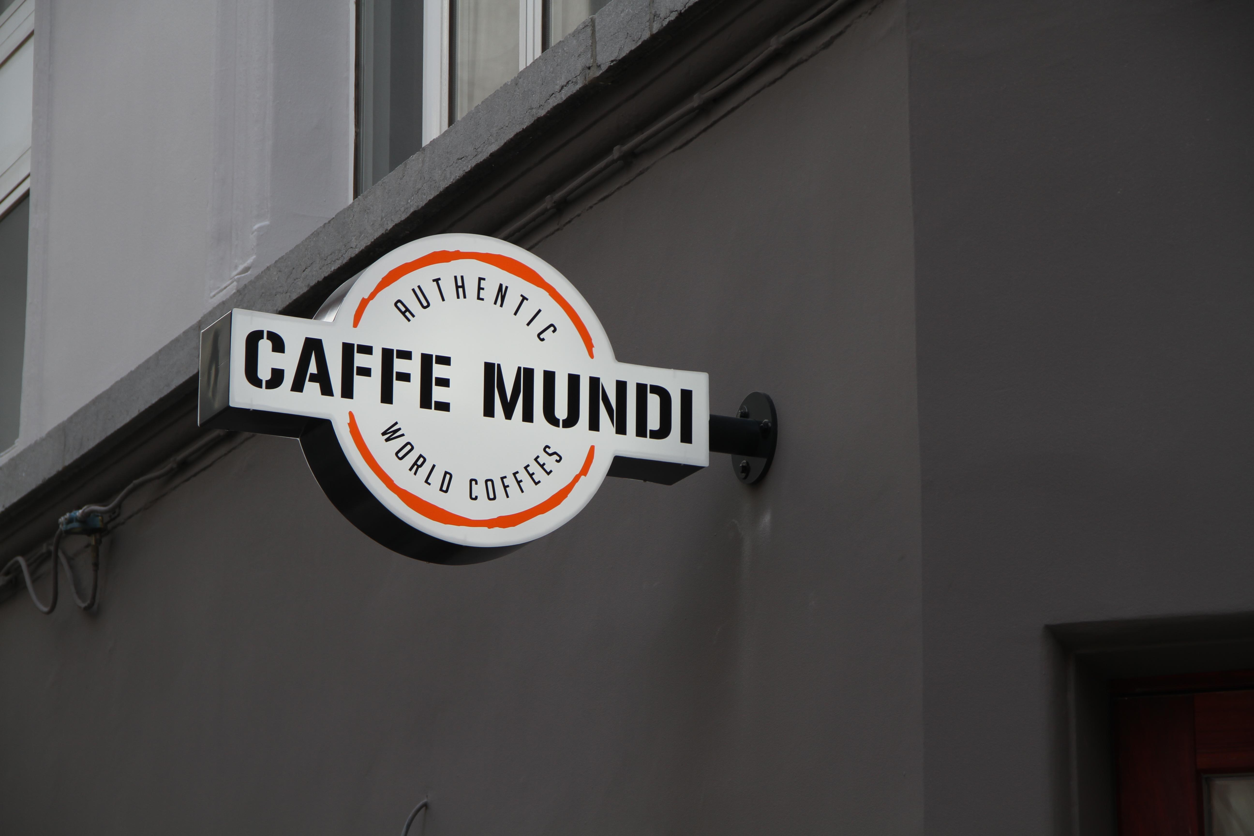 Lichtreclame Caffe Mundi: Espressobar - Espressobar Antwerpen