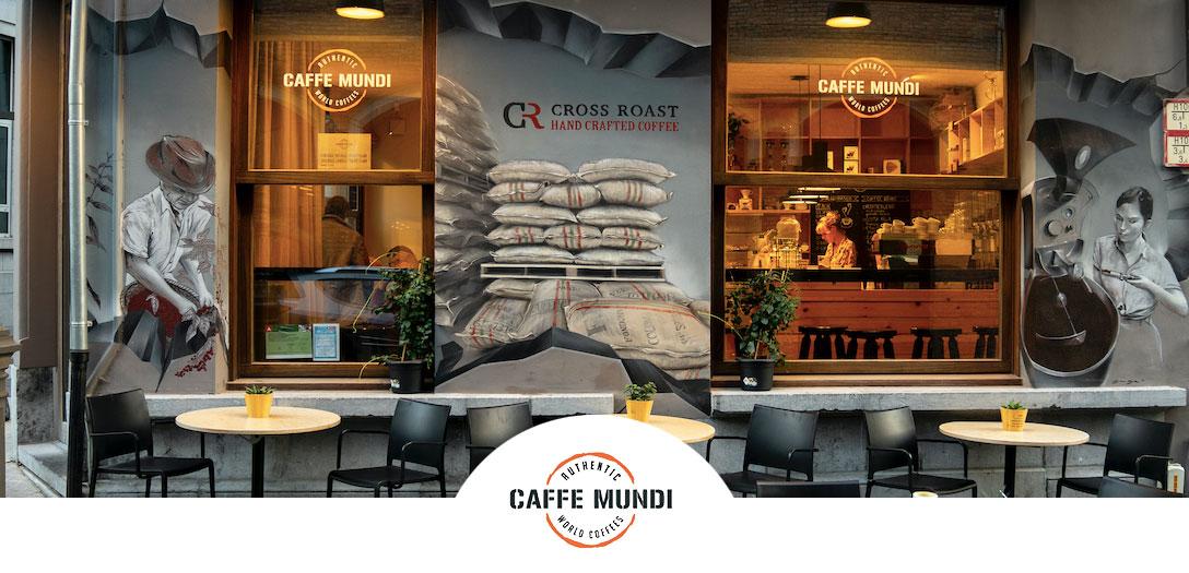 Caffe Mundi: Espressobar vooraanzicht