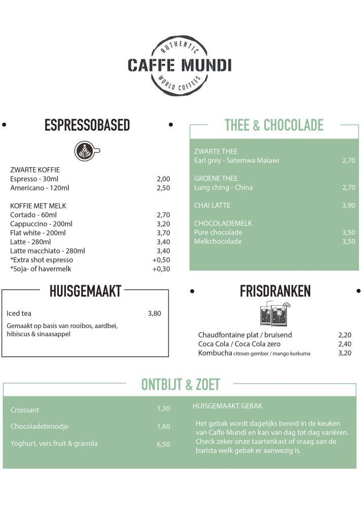 Corona menu
