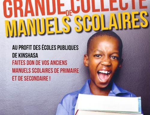 Collecte de manuels scolaires au profit des écoles publiques de Kinshasa