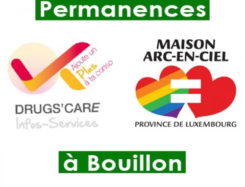 Permanences à Bouillon – Changements