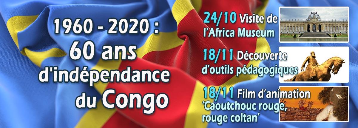 Le 30 juin 1960, le Congo devient indépendant après 75 ans de colonisation belge. Soixante ans plus tard, comment aborder, notamment en classe, l'histoire coloniale belge, phénomène qui a façonné nos sociétés contemporaines. A l'occasion des 60 ans de l'indépendance de la République Démocratique du Congo, le CAL/Luxembourg organise trois activités : une visite de l'Africa Museum à Tervuren, une journée dédiée à la découverte d'outils pédagogiques et un ciné-débat.