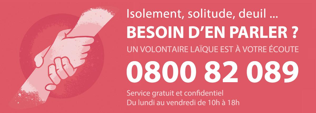 0800 82 089 - Un numéro pour rompre l'isolement en période de pandémie