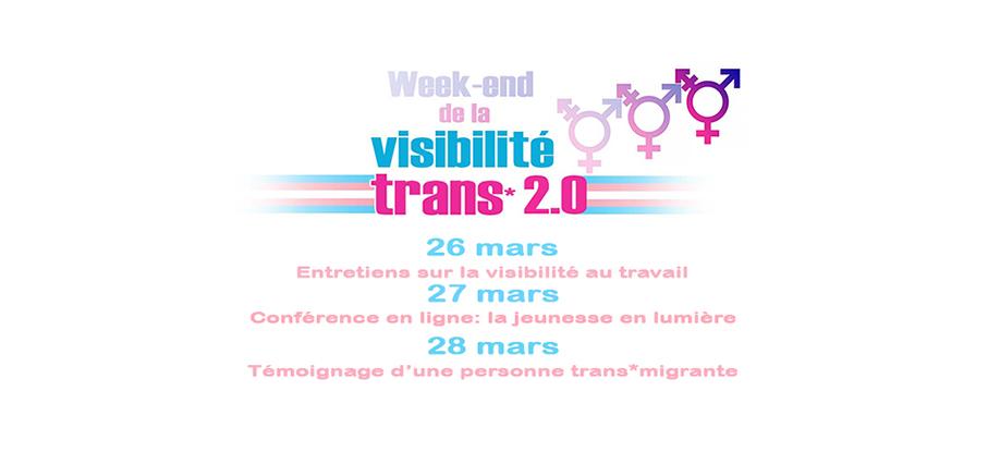 A l'occasion de la journée internationale de la visibilité trans*, la M@C Lux organise 3 évènements en ligne le w-e du 26 mars pour mettre en lumière les personnes trans*.