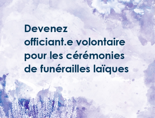 Devenez officiant·e volontaire pour les cérémonies de funérailles laïques