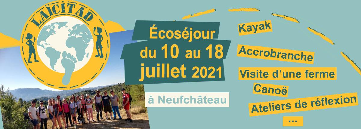 Laïcitad 2021 t'emmène au cœur de l'Ardenne pour un éco séjour à Neufchâteau.