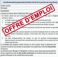 Le relais social de la province de luxembourg recrute