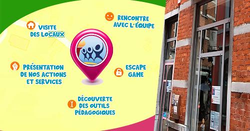 Pour vous présenter le nouveau relais du CAL/Luxembourg à Marche-en-Famenne, ses activités et ses services, l'équipe organise deux après-midi portes ouvertes auxquelles vous êtes toutes et tous convié·e·s : 𝗹𝗲 𝗺𝗲𝗿𝗰𝗿𝗲𝗱𝗶 𝟮𝟮 𝘀𝗲𝗽𝘁𝗲𝗺𝗯𝗿𝗲 𝗱𝗲 𝟭𝟰𝗛𝟬𝟬 𝗮̀ 𝟭𝟴𝗛𝟬𝟬 𝗲𝘁 𝗹𝗲 𝘀𝗮𝗺𝗲𝗱𝗶 𝟮𝟱 𝘀𝗲𝗽𝘁𝗲𝗺𝗯𝗿𝗲 𝗱𝗲 𝟭𝟬𝗛𝟬𝟬 𝗮̀ 𝟭𝟲𝗛𝟬𝟬.