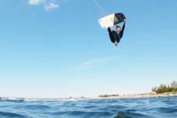 Kiteboarding board-off in the Swedish Archipelago