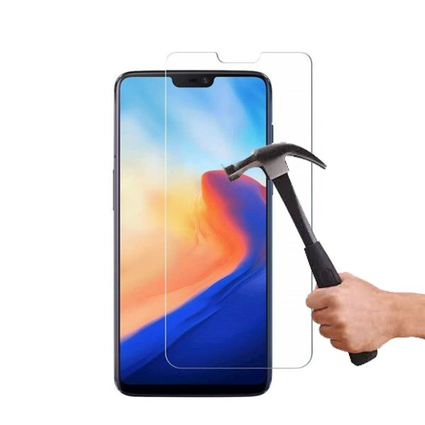 One Plus 6 100% Tempered Glass Screen Protector-Clear
