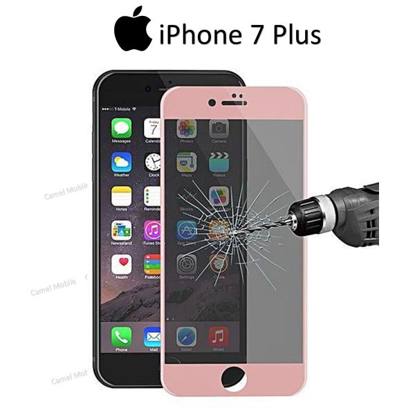 Apple iphone 7 Plus Full covered 3D 100% Genuine Tempered Glass Screen Protector- Gold