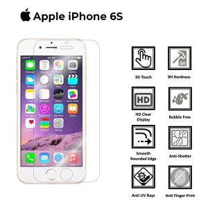 Apple iphone 6-6s 100% Genuine Full Covered 3D Tempered Glass Screen Protector-Black