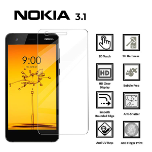 Nokia 3.1 100% Genuine Tempered Glass Screen Protector – Clear