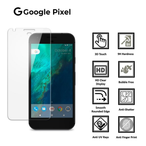 Google Pixel 100% Genuine Tempered Glass Screen Protector-Clear