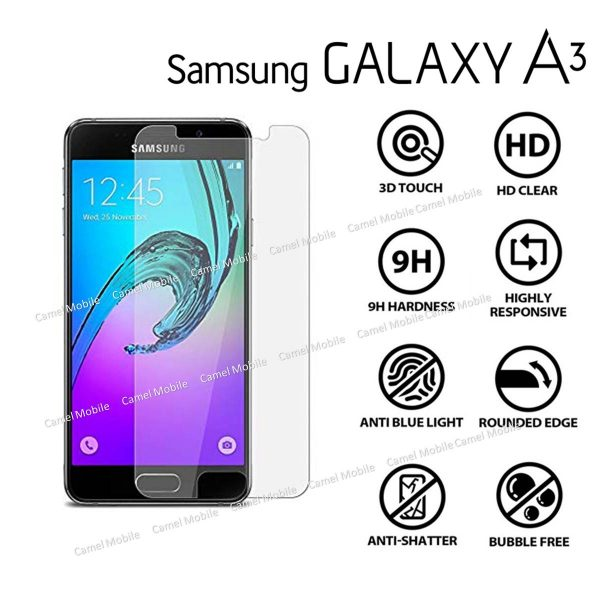 Samsung Galaxy A3(2017) 100% Genuine Tempered Glass Screen Protector-clear