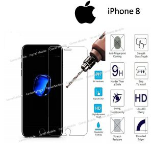 Apple iPhone 8 Premium Quality 100% Tempered Glass Screen Protector – Clear